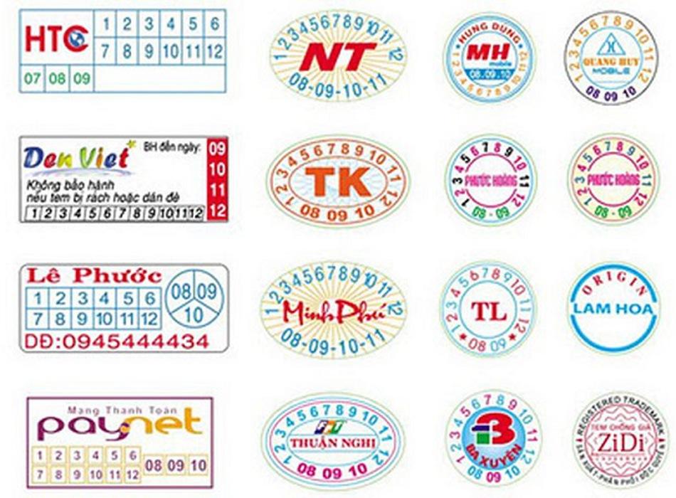 Tìm hiểu về mẫu in tem niêm phong
